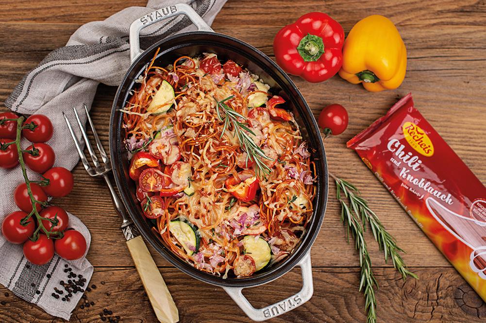chili-knoblauch-spaghettiauflauf-rezept