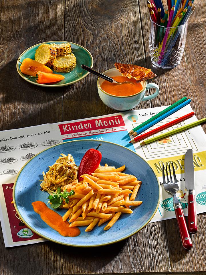 rezept-pulled-chicken-mit-dinkel-penne-und-paprika-rahm