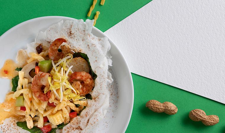 rezept-suess-saurer-nudelsalat-treccine-garnelen-wasserkastanie-lotuswurzel