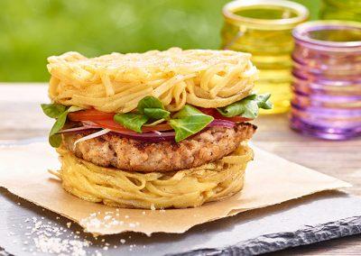 Nudelburger vom Grill