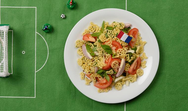 Französischer Fußball-Nudelsalat