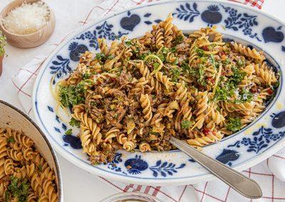 Vegetarische Bolognese | Meal Prep Nudeln